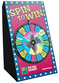 Large Spin and Win Prize Wheels